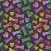 Colourful Dog Treats LAMINATED Water Resistant Slicker Fabric