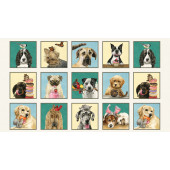 Doggie Drama Fabric Panel