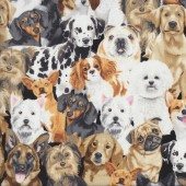 Dogs Beagle French Bulldog Terrier Quilting Fabric