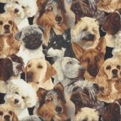 Assorted Dogs Westie Springer Cocker Spaniel Pug Quilting Fabric