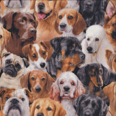 Dogs Assorted Quilting Fabric