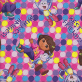 Dora Best Friends Quilting Fabric