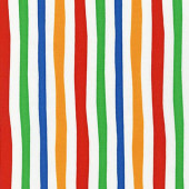 Dr Seuss Celebrate Red Blue Yellow Green Stripe Kids Quilt Fabric