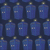 Dr Who Police Phone Boxes Quilting Fabric