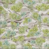 Succulents Driftwood Garden Plants Garden Gardening Quilting Fabric