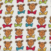 Dr Seuss Bar Ba Loot Bears on White Kids Boys Girls Quilting Fabric