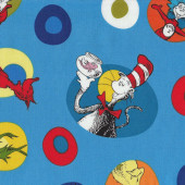 Dr Seuss Cat in Hat Green Eggs and Ham Kids Quilt Fabric