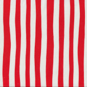 Dr Seuss Red and White Stripe Kids Quilt Fabric