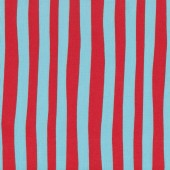 Dr Seuss Red and Blue Stripe Kids Quilting Fabric