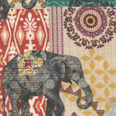 Imperial Elephants Indian Design Large Print Quilting Fabric
