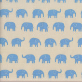 Blue Elephants Fabric