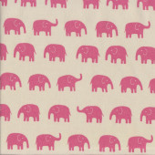 Pink Elephants Fabric