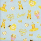 The Wiggles Emma Bow Power Ballet on Blue Girls Licensed Quilting Fabric