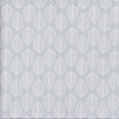 White Leaves on Grey Essentials Quilting Fabric