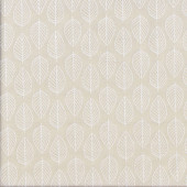White Leaves on Beige Essentials Quilting Fabric