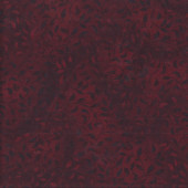Leaves on Burgundy Red Essentials Landscape Quilting Fabric