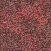 Fairy Frost Metallic Gold on Bordeaux Burgundy Quilting Fabric