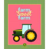 John Deere Tractor Farm Sweet Farm Girls Quilt Fabric Panel