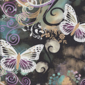 Butterflies Filigree Flutter Quilting Fabric
