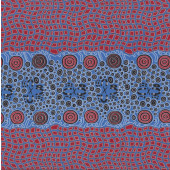 Australian Indigenous Aboriginal Fire Dreaming by Janet Long Quilting Fabric