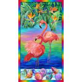 Flamingos Fabric Panel