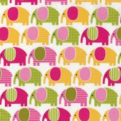 Sweet Elephants Urban Zoologie Anne Kelle Kids Flannel Fabric