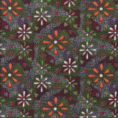 Australian Indigenous Aboriginal Flowers in the Desert by L. Doolan Quilting Fabric