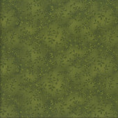 Folio Leaves on Green Quilting Fabric