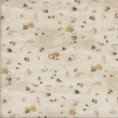 Footprints in the Sand Shells Beach Landscape Quilting Fabric