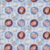 Frozen Elsa and Anna Mythic Journey Snowflakes Licensed Quilting Fabric