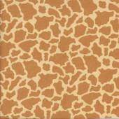 Giraffe Print Pattern on Light Tan African Animal Quilting Fabric