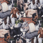 Goats Kids Farm Animal Quilting Fabric
