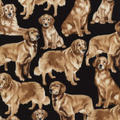 Golden Retriever Dogs Pet Animal Quilting Fabric