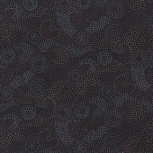 Australian Aboriginal Gooloo Grey Black Dots Quilting Fabric