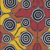 Australian Indigenous Aboriginal Grandmothers Journey By M Napurulla Quilt Fabric
