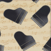 Grand Pianos Quilting Fabric