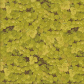 Green Grapes Bunches and Leaves Quilting Fabric