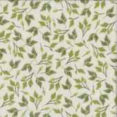 Enchanted Green Leaves Quilting Fabric