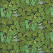 Green Leaves Landscape Plant Nature Quilting Fabric