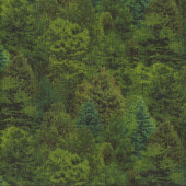 Green Trees Nature Quilting Fabric