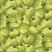 Green Apples Quilting Fabric