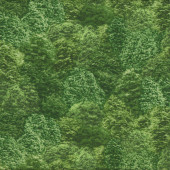 Green Trees Nature Landscape Design Quilt Fabric