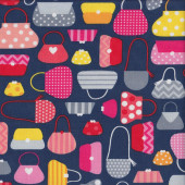Colourful Handbags Quilting Fabric