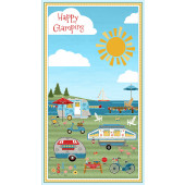 Happy Glamping Fabric Panel