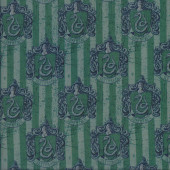 Harry Potter Slytherin Quilting Fabric Remnant 47cm x 112cm