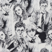 Harry Potter on White Fabric