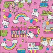 Hello Kitty Pink Ferris Wheel Kids Fabric
