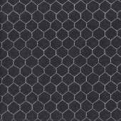 Chicken Wire on Black Hen House Quilting Fabric