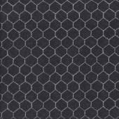 Chicken Wire on Black Hen House Quilting Fabric
