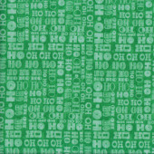 Ho Ho Ho on Green Quilting Fabric